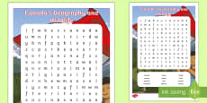 Canada's Geography and Wildlife Word Search