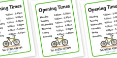 Bicycle Repair Shop Opening Times