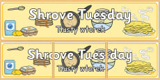 Shrove Tuesday Display Banner Polish Translation