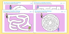 The Enormous Turnip Differentiated Maze Activity Sheet Pack