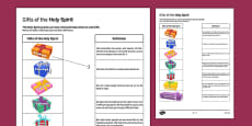 Gifts of the Holy Spirit Matching Activity Sheet