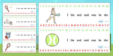 Wimbledon Themed Alphabet Strip