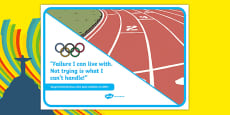 Olympic Themed Inspirational Quote Sonya Richards Ross