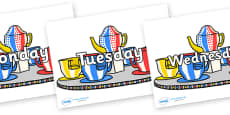 Days of the Week on Fairground Teacups
