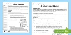 Brothers and Sisters Activity Sheet