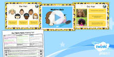 PlanIt - D&T KS1 - Our Fabric Faces Lesson 2: Making Hair Lesson Pack
