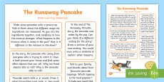 * NEW * EYFS The Runaway Pancake Home Learning Challenges Reception FS2