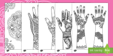 * NEW * Mehndi Pattern Colouring Pages