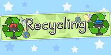Recycling Display Banner (Australia)