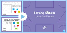 Sorting 2D Shapes Using A Carroll Diagram PowerPoint