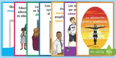 Pack de exposición: Frases sobre la educación