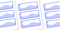 Bluebird Themed Editable Drawer-Peg-Name Labels (Colourful)