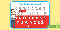 Polish Alphabet A4 Display Poster
