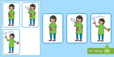 3-Step Sequencing Cards: Blowing Bubbles