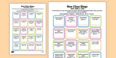 New Class Bingo Mandarin Chinese Translation
