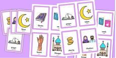 Eid Pairs Matching Game Arabic Translation