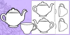* NEW * Mother's Day Card Blank Teapot Card Craft English/Italian