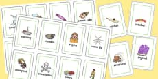 Two Syllable CR Flash Cards