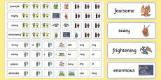 Fairy Tale Adjective Word Cards