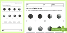 Phases of the Moon Homework Activity Sheet