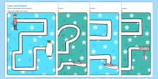 Pencil Control Path Activity Sheets to Support Teaching on Lost and Found