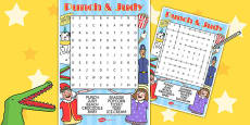 Punch and Judy Wordsearch