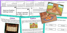 Buddhism, Judaism and Hinduism Holy Texts Stories and Prayer Resource Pack