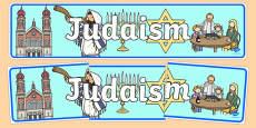 Judaism Display Banner