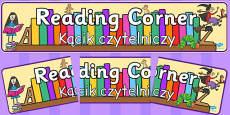 Reading Corner Display Banner Polish Translation