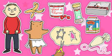 Story Cut Outs to Support Teaching on Biscuit Bear