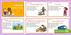 Inference Picture and Question Cards