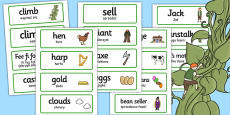 Jack and the Beanstalk Topic Word Cards Polish Translation