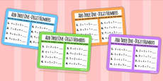 Add Three One Digit Numbers Smallest First KS1 Maths Challenge Cards