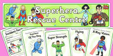 Superhero Rescue Centre Role Play Pack