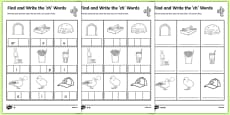 Find and Write the ch Words Differentiated Activity Sheet Pack