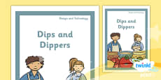 PlanIt - D&T KS1 - Dips and Dippers Unit Book Cover