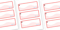 Ladybug Themed Editable Drawer-Peg-Name Labels (Colourful)
