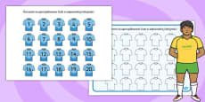 Rugby Strip Number Ordering Activity Polish