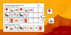 Chinese New Year Complete The Pattern Activity Sheet Differentiated Polish Translation