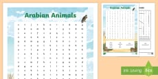 * NEW * Arabian Animals Word Search