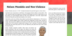 Nelson Mandela and Non-Violence Information Sheet