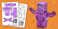 Bulk Monster 3D Halloween Paper Model