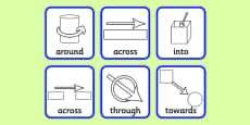 Directional Prepositions Symbol Cards