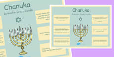 Hannukah Large Information Poster KS2 Polish
