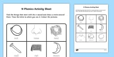 n Phonics Activity Sheet