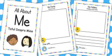 All About Me' Booklet EAL Romanian Translation
