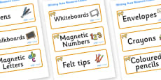 Lion Cub Themed Editable Writing Area Resource Labels