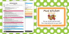 Leaf Parcels EYFS Mud Kitchen Plan and Prompt Card Pack