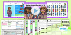 Planit Y1 Multiplication and Division Lesson Pack Multiplying and Dividing by Ten