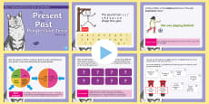 * NEW * Year 2 Present and Past Progressive Tense Warm-Up PowerPoint